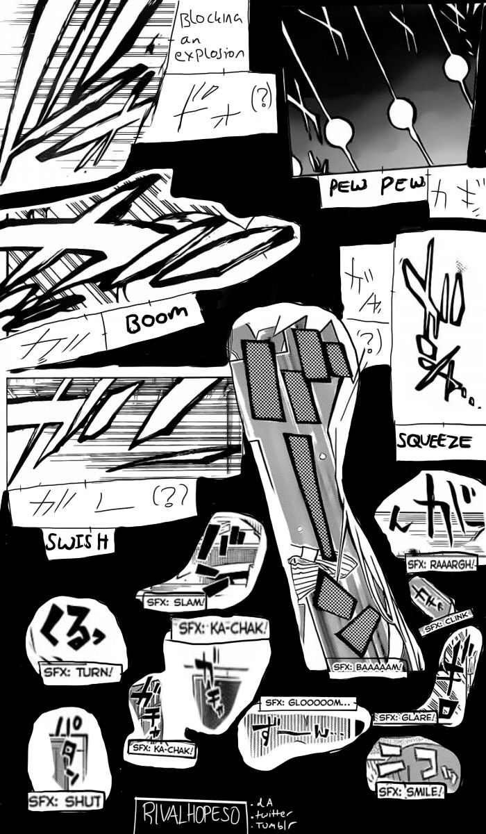 Drawing Lines Sound Effect : Japanese manga sound effect reference sheet part by