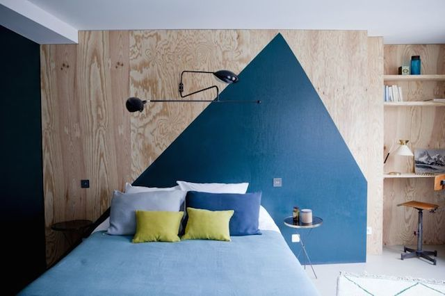 Perfect for my boys. Love the wood. Love the blue paint effect for a headboard