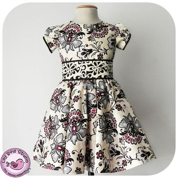 Lily Bird Studio PDF patron de couture  robe par TheLilyBirdStudio, $8.50