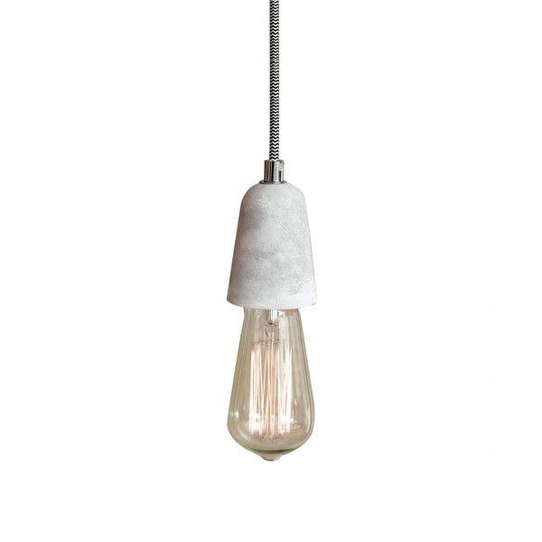 Ando 1 Light Pendant in Concrete   Pendant Lights   Lighting