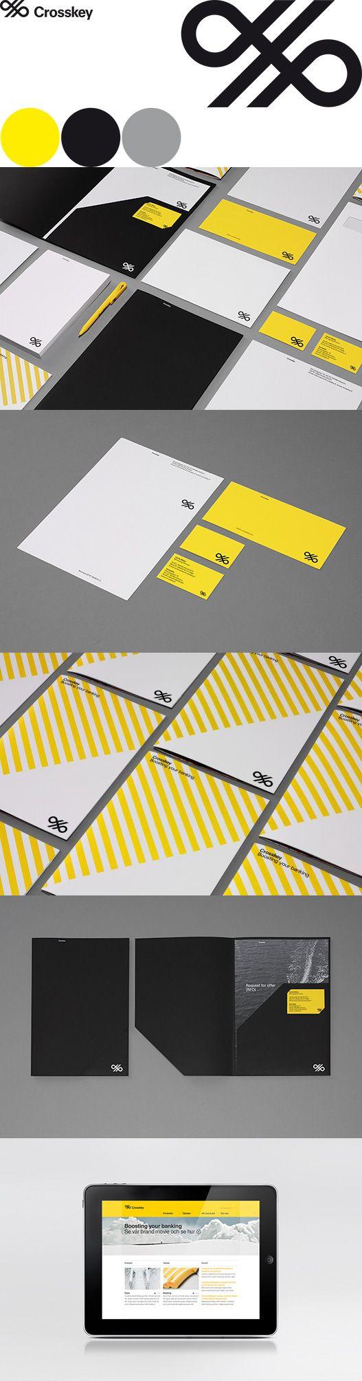 Crosskey Brand Identity - Agency: Kurppa Hosk. Love the folder template