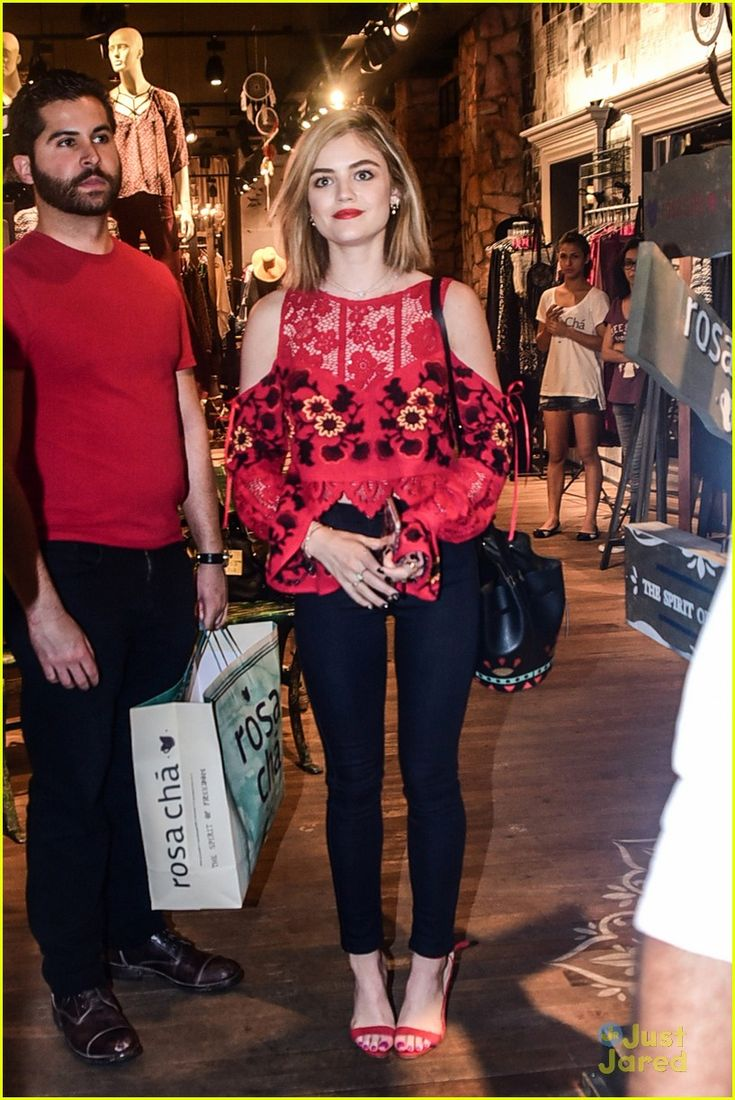 lucy hale brazil arrival shopping before convention 17