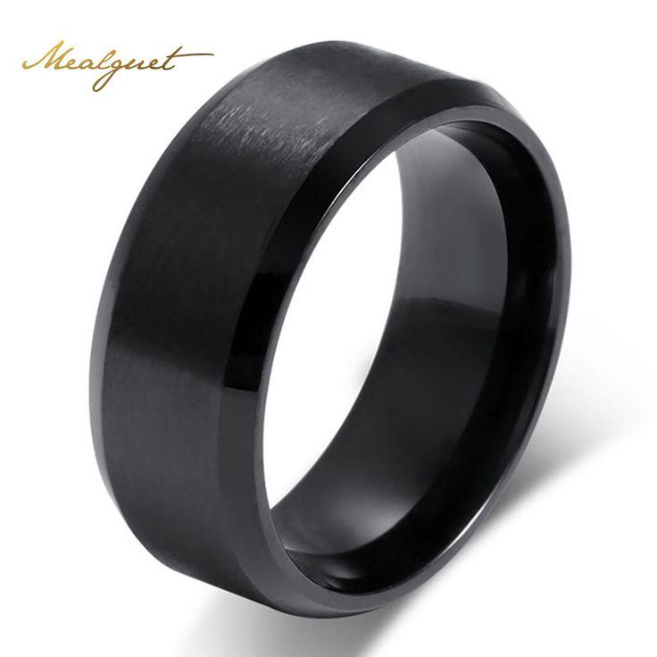 Meaeguet mode eenvoudige ring voor mannen 316l rvs sieraden groothandel trouwringen voor vrouwen 3 kleuren
