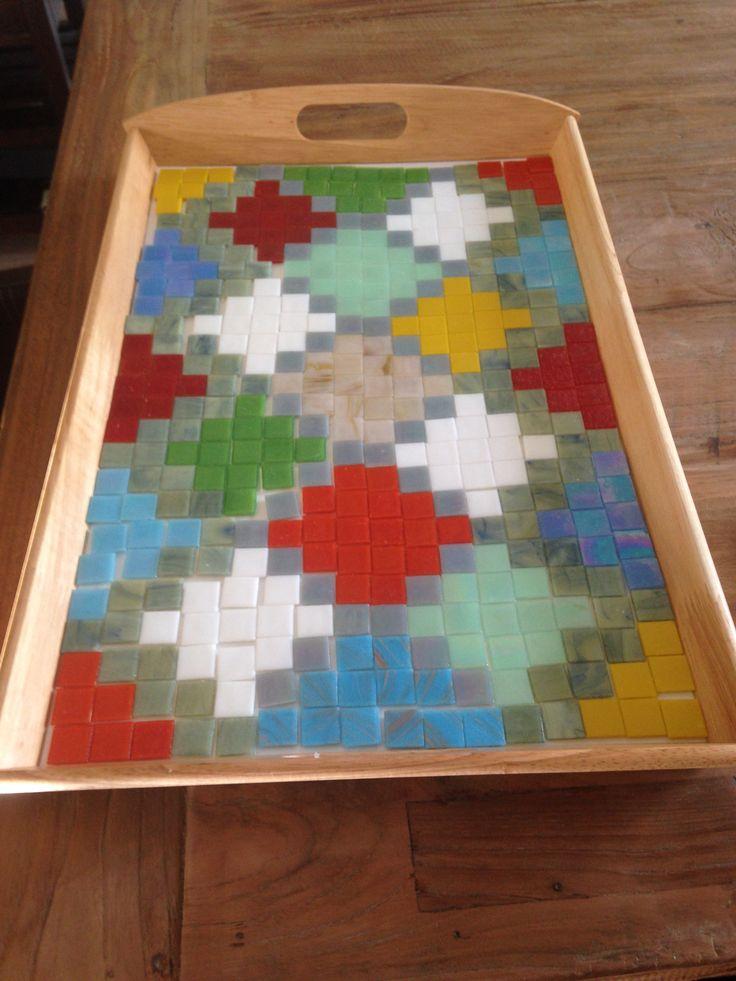 Groot dienblad mozaiken