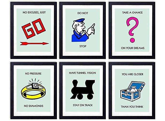 Monopoly Motivational Wall Art
