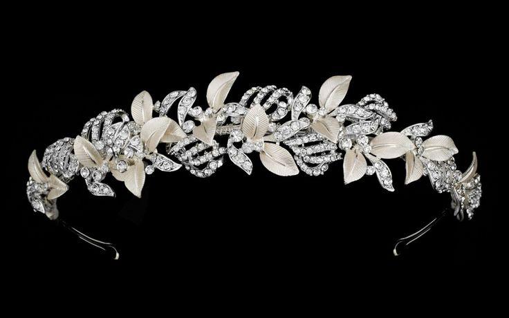 Rum Pink and Silver Vine Bridal Headband--Affordable Elegance Bridal -