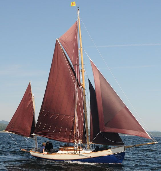 Designed By Thomas Gillmer Properly And Well Built In Maine Wooden SailboatWooden BoatsOld