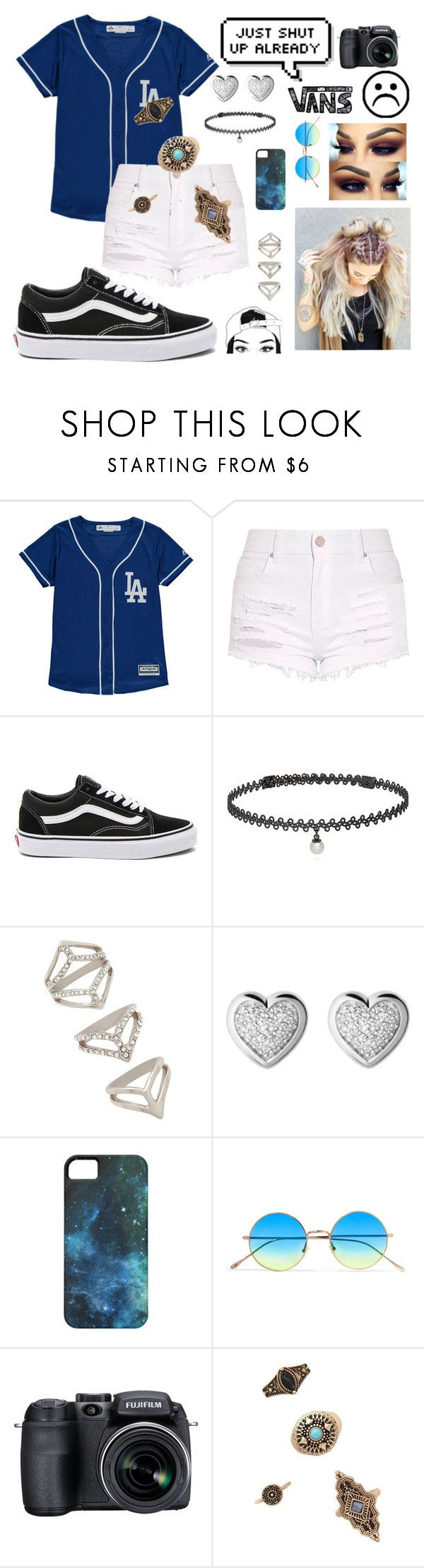 """""""Untitled #167"""" by toriclifford-5sos on Polyvore featuring Vans, BERRICLE, Forever 21, Links of London, Illesteva and Fujifilm"""