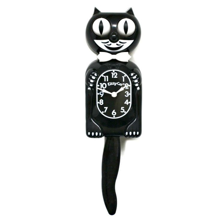 This is a new official Kitty-Cat Clock. It's a smaller version of the original iconic Kit-Cat Clock (3/4 size), and features the same moving eyes and wagging tail that's brought a smile to generations