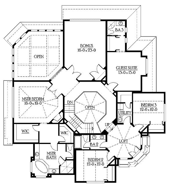 European House Plans European Style House Plan   Sq Ft