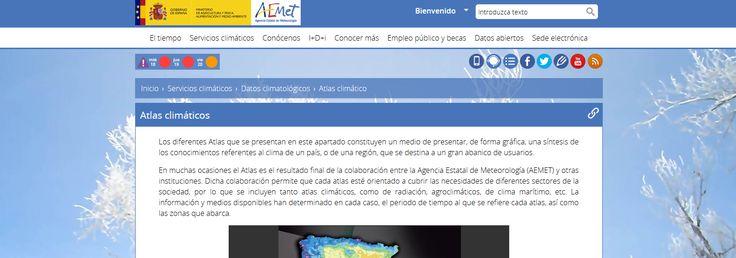 Atlas climáticos, de radiación, agroclimáticos, de clima marítimo, etc de la Agencia Estatal de Meteorología