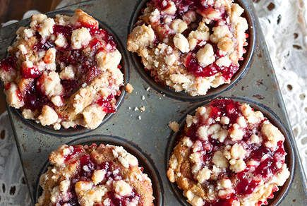 Peanut Butter and Jelly Muffins | We'll never tire of the classic sweet and salty combo—so why restrict it to brown bag lunches? These PB