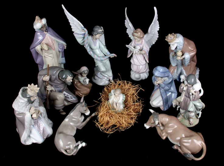 This 12 piece Lladro nativity set positively glows with Christmas spirit. The expressions say it all.