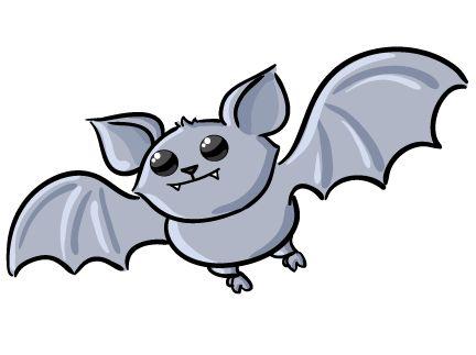 Cute Halloween Clip Art   Free Cute Bat Clip Art
