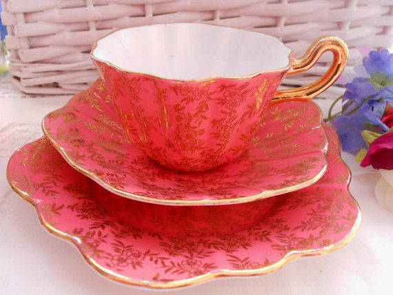 Lovely Royal Stuart Spencer Stevenson trio of tea cup by ChezElla, $26.00