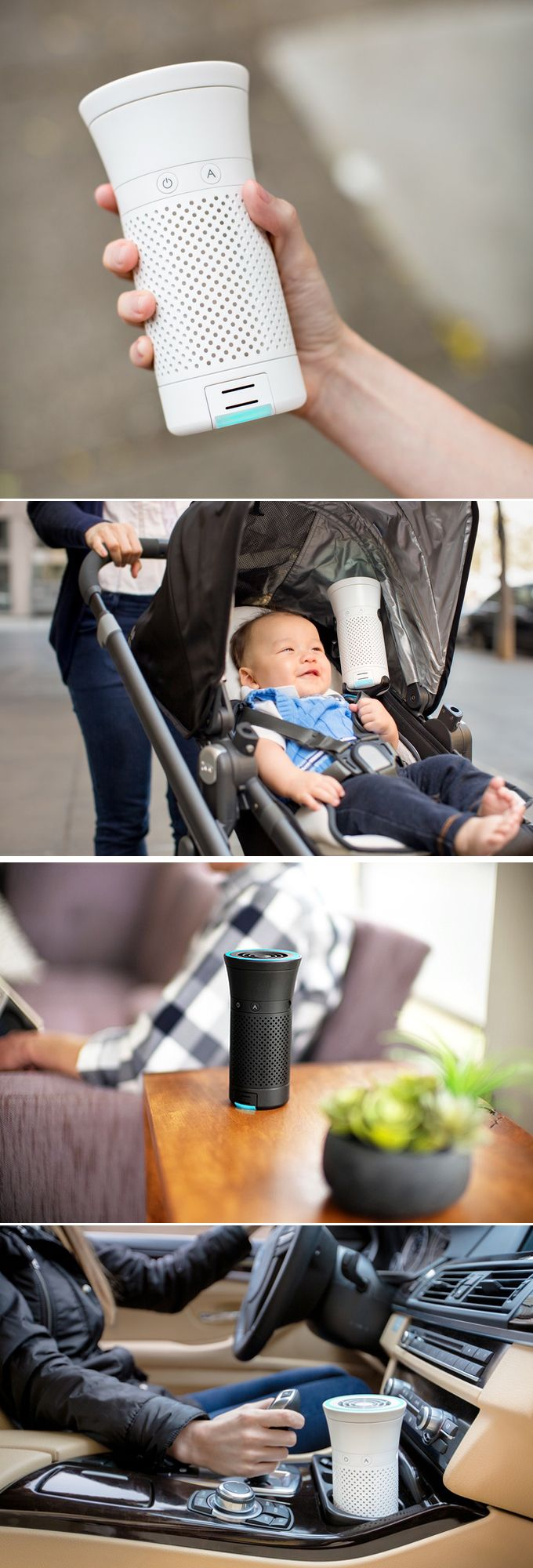 Light and portable, Wynd, makes sure the air you breathe is clean. Check it out==> | Wynd - The Smartest Air Purifier For Your Personal Space | http://gwyl.io/wynd-air-purifier/