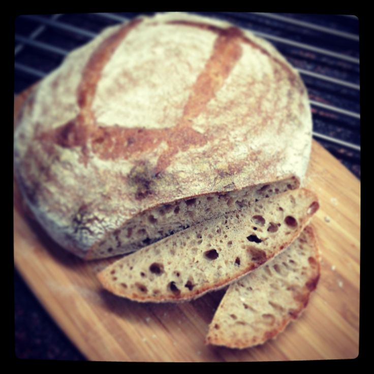 Sourdough full grain wheat loaf with 5% Raimugido wet starter.