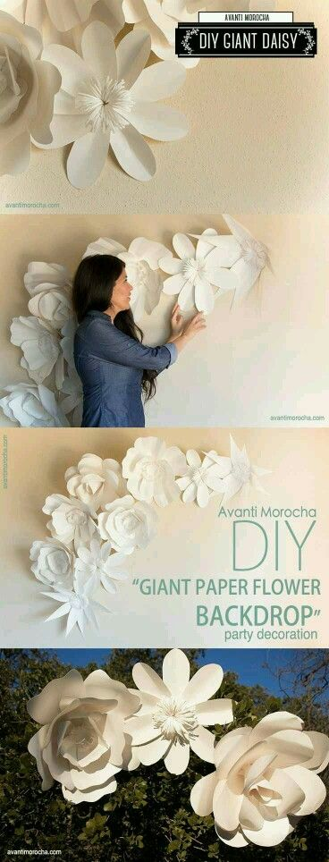 This paper flower wall would POP off the purple theme