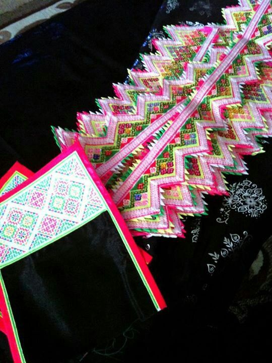 Hmong collars and trim