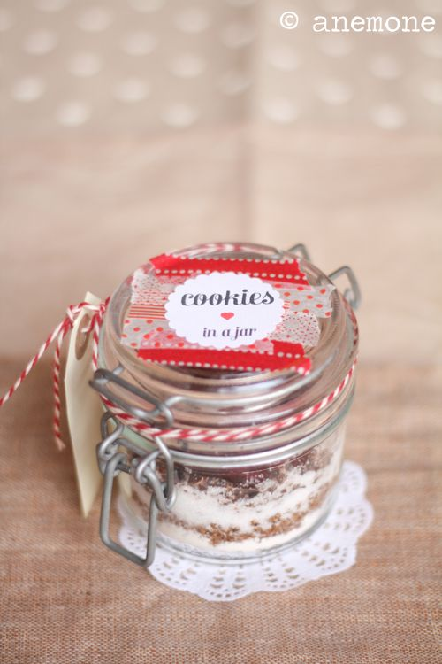 cookies in a jar: preparato con printable