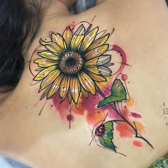 Sunflower | Cute tattoos, Sunflower tattoo, Tattoos
