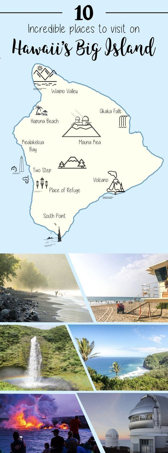 Hawaii Big Island Travel Guide: 10 Incredible places to Visit on Hawaii's Big Island (Hawaii Island). #Hawaii #BigIsland