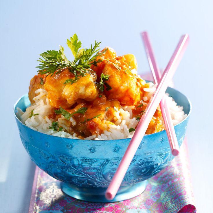 Découvrez la recette du curry de lotte