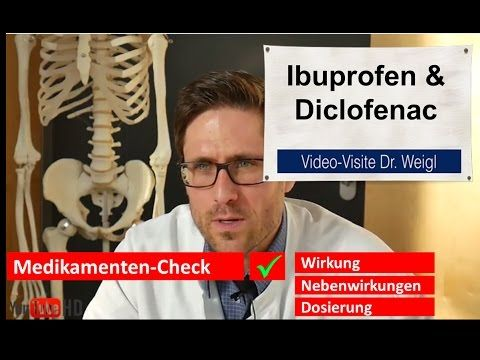 Schmerzmittel Ibuprofen & Diclofenac  Wirkung und Nebenwirkungen // Der Medikamenten-Check