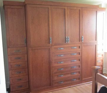 Bedroom Wall Organizational Unit | Arts And Crafts Wall Unit Traditional  Bedroom