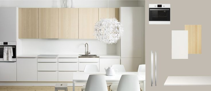 38 best images about cuisine on pinterest coins bench for dining table and - Cuisine ikea faktum abstrakt gris ...