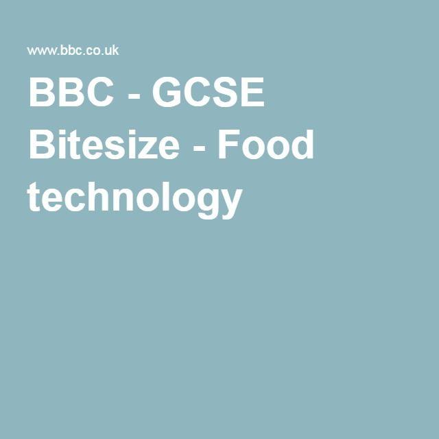BBC - GCSE Bitesize - Food technology