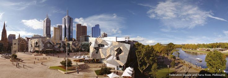 Federation Square and Yarra River