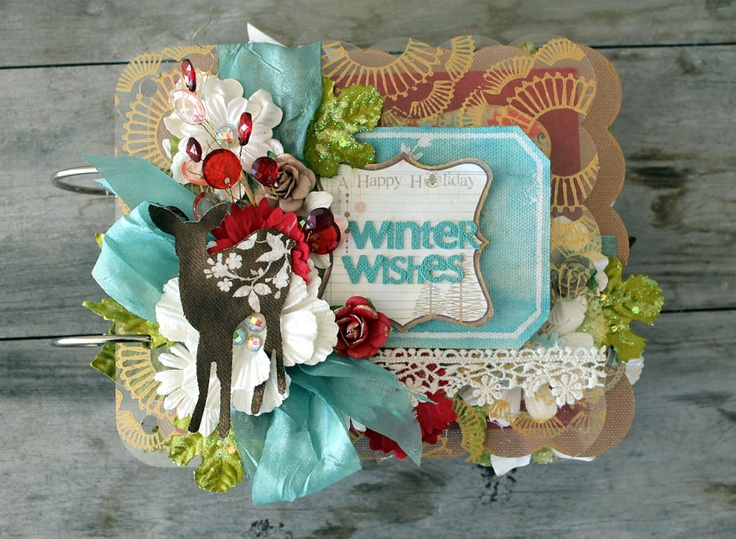 Winter Wishes Album by Cari Fennell for Prima using North Country collection