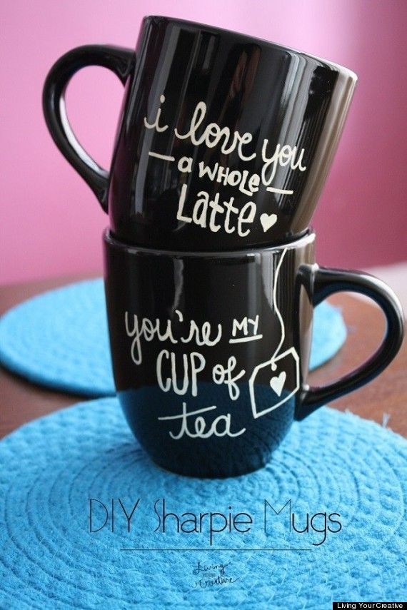 Serve your loved one coffee in a personalized mug on Valentine's Day!