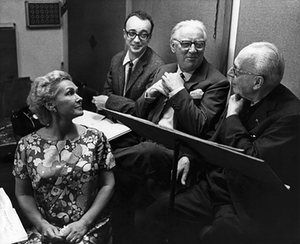 Elisabeth Schwarzkopf with Brendel (so young!) Legge and Szell
