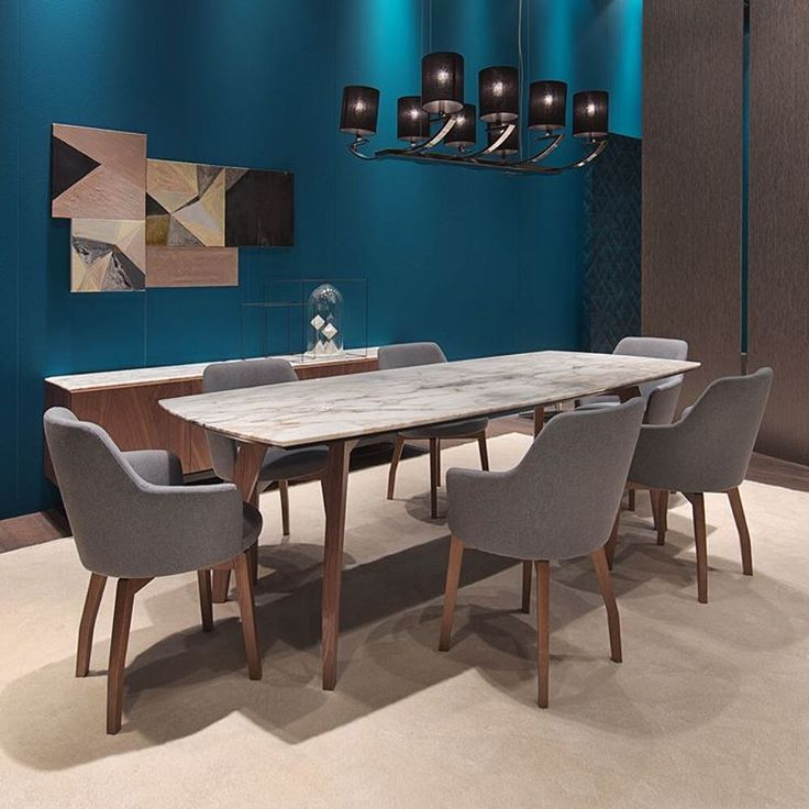 Other news from the last Milano fair…our new #diningroom :  Allen Table & Allen Chair  #blackcollection by @albertapacificfurniture 🇮🇹 The #table and #chair complete the Allen #collection, with their rounded solid wood legs in the same finish as the other pieces of the family.  The table stands out thanks to the rounded shape of its marble top, lending it a light yet sturdy appearance.  The chair has an enveloping shape that embodies formal elegance and comfort...