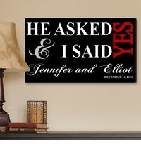 He asked and I said yes - probably one of the most romantic images to have on your wall. Perfect for an anniversary gift.
