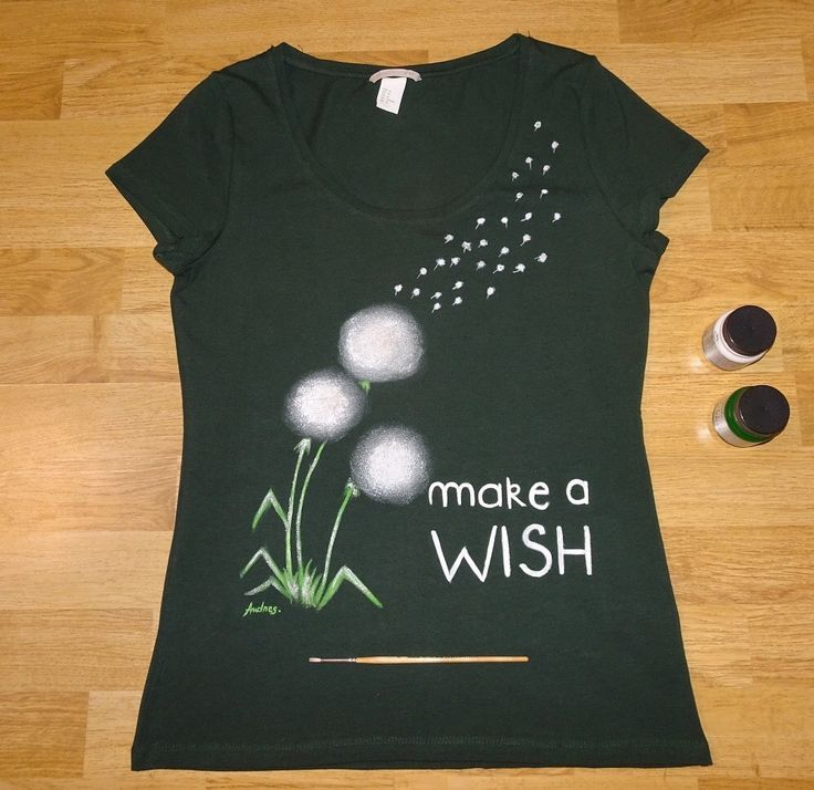 Make a wish! Tricou pictat.   #paintedtshirt #tricouripictate #handmade