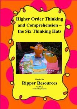 """de Bono's six thinking hats are used to support critical thinking and higher order comprehension. Explicit questions are provided for each of the six thinking hats, to support students to think deeply about the text, """"The Lorax"""" by Dr Seuss. Students work in small co-operative groups to discuss key issues in the text. The resource builds on accountable talk, critical literacy and philosophical inquiry."""