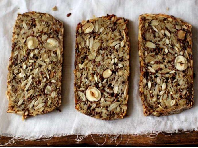 Полезный хлеб без муки и дрожжей