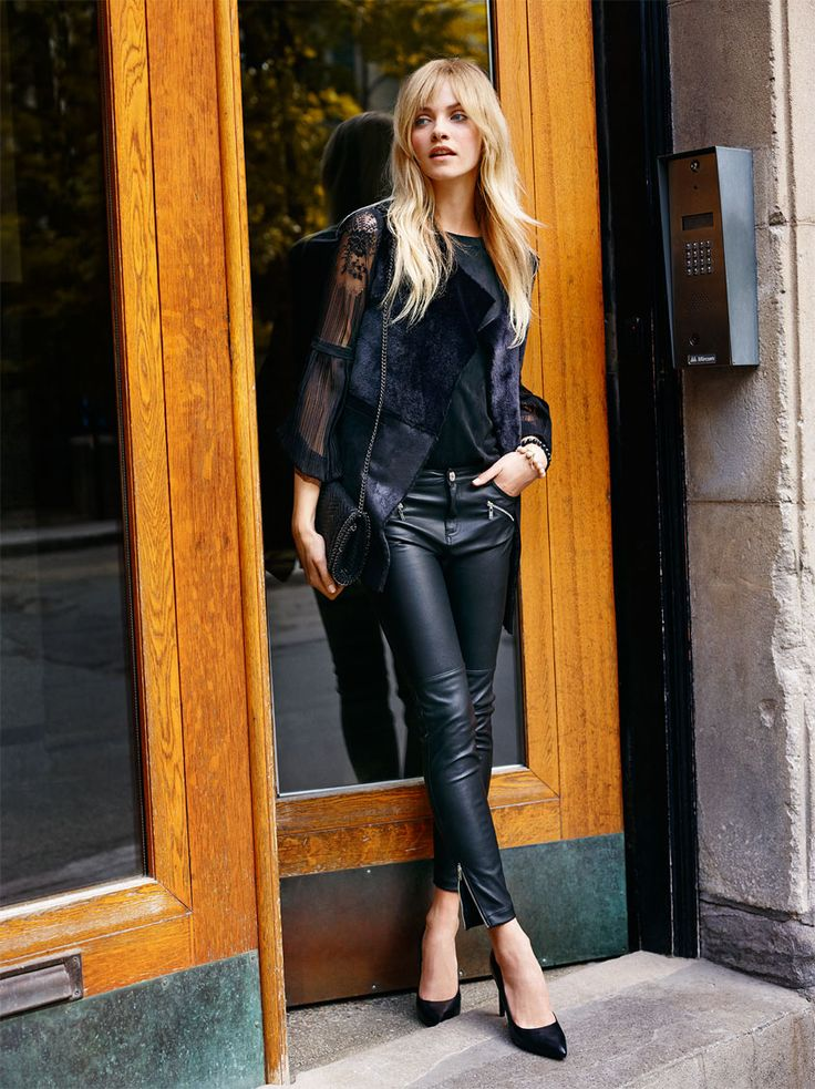 Autumn Collection Woman AW16 #Leather#trousers#black#look