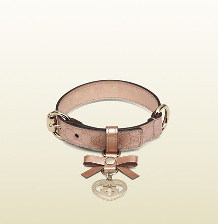 Betty says: Gucci darling. A collar fit for a Chihuahua I would say.