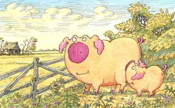 ... und Piggeldy ging mit Frederick nach Hause.
