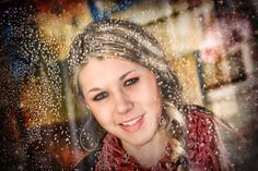 """""""Rain and Graphic Effects"""" by Portrait Creations photography studio located in Charlotte, NC. Portrait: Kendal Frank- Trendy Kendie"""