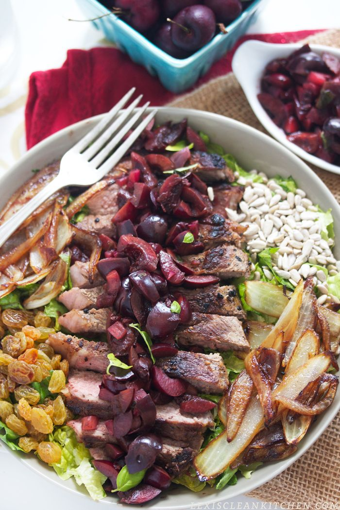 Steak Salad with Cherry Salsa Recipe plus over 700 more Paleo dinner recipes