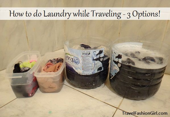 Wondering how to do laundry while traveling? Here's 3 Options: http://travelfashiongirl.com/how-to-do-laundry-while-traveling-3-options/ #travel #tips #packing