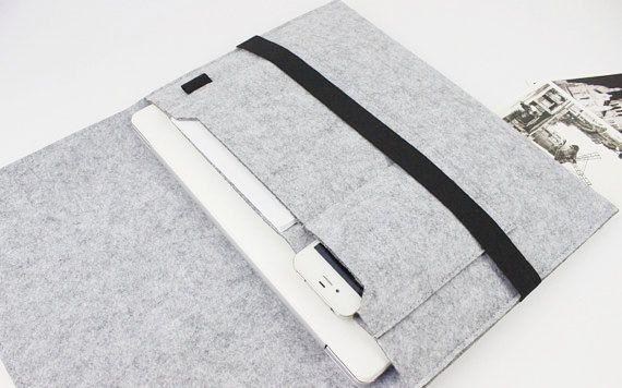 felt Macbook Air 13 sleeve 13 inch Macbook sleeve door FeltSJie