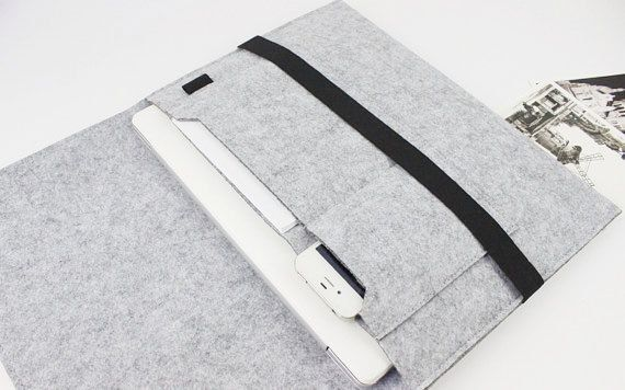 felt Macbook Air 13 sleeve 13 inch Macbook sleeve door FeltSJie                                                                                                                                                                                 More