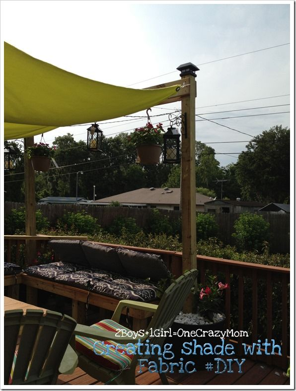 Create A Simple Sail To Add Shade To Your Outdoor Space In No Time   2 Boys  + 1 Girl U003d One Crazy Mom
