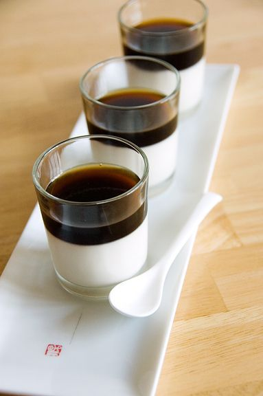 Espresso Panna Cotta. Coffee.